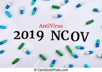 ncov, anti-virus, concept., 2019