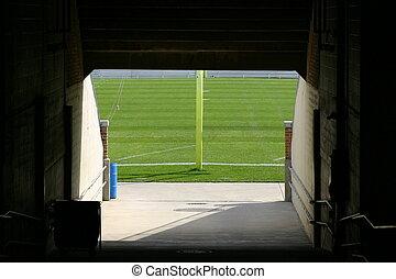 ND stadium tunnel