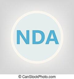 NDA (Non-Disclosure Agreement) acronym- vector illustration