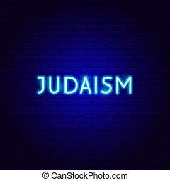 neón, judaísmo, texto