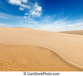 ne, 砂丘, 日の出, 砂, ベトナム, 白, mui