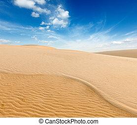ne, dunas, salida del sol, arena, vietnam, blanco, mui