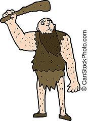 neanderthal, cartone animato