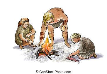 neanderthal, famille