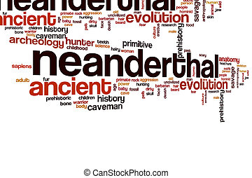Neanderthal word cloud concept