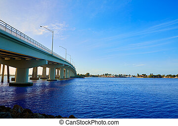neapol, floryda, marco, wyspa, prospekt mostu, floryda