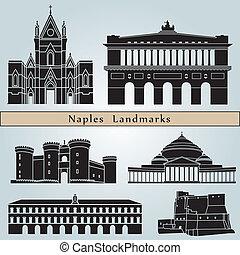 neapol, punkty orientacyjny, i, pomniki