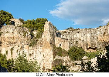 Neapolis Archaeological Park - Syracuse Sicily Italy -...
