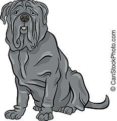 neapolitan mastiff dog cartoon illustration - Cartoon...