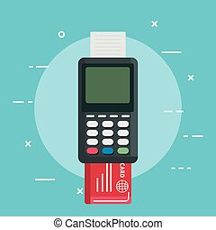 near field communication technology vector illustration...