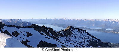 Panoramic View on Bariloche, the mountains and the Lake - Patagonia