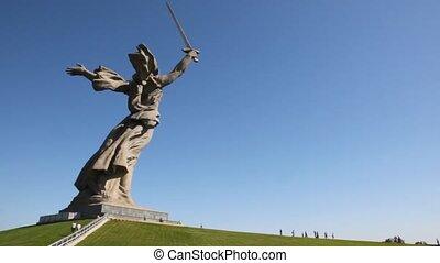 nearer, ludzie, land-mother., pomnik, przyjść, krajowiec