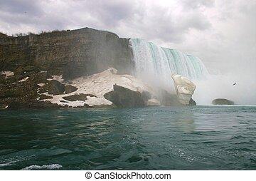 Nearing the Falls - drifting toward Niagara Falls