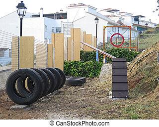 Dog exercise park