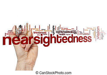 Nearsightedness word cloud concept
