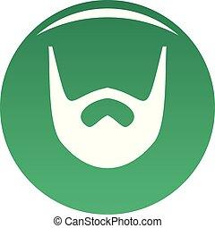 Neat beard icon vector green