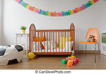 Neat furnished baby room - Picture of neat furnished light...