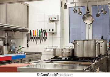 Neat interior of a commercial kitchen
