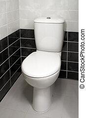 Modern clean toilet bowl