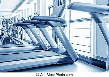 Neatly arranged treadmill