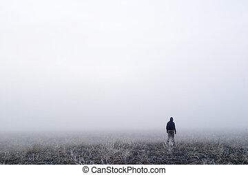 nebbia, passeggiata