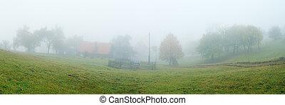 nebbia, villaggio