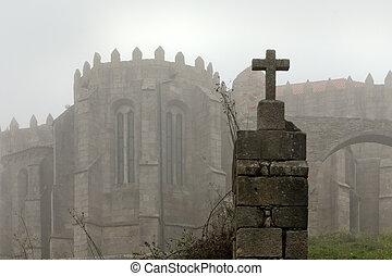 nebbioso, medievale, abbazia