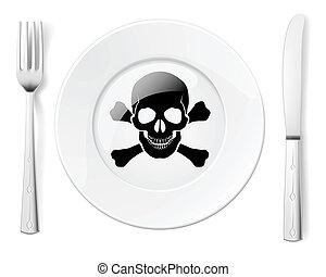 nebezpečný, strava