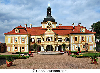 Nebilovy castle - Czech baroque castle Nebiloy near Plzen