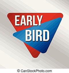 nebo, business podpis, časný, podpora, charakterizovat, ptáček
