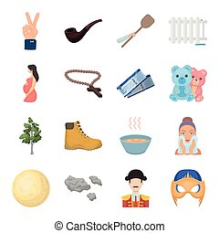 ,nebo, travel, tourism and other web icon in cartoon style. game, incognito, clouds icons in set collection.
