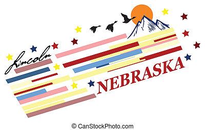 nebraska, bandera