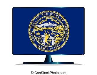 Nebraska Flag TV