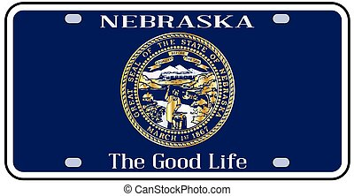 Nebraska License Plate Flag - Nebraska state license plate...