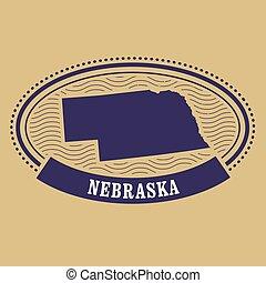 Nebraska map silhouette