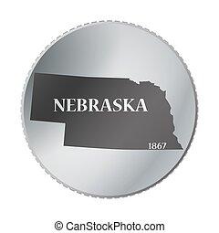nebraska, tillstånd, mynt
