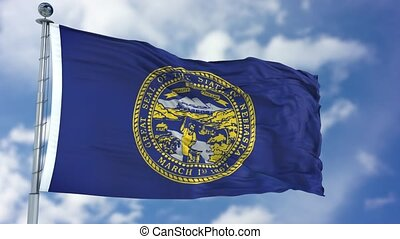 Nebraska Waving Flag