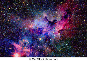 Nebula and galaxies in space. Elements of this image ...