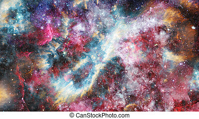 Nebula and star field against space. Elements of this image...