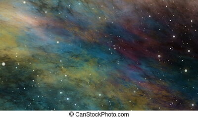 Nebula and Star Fields in Deep Space