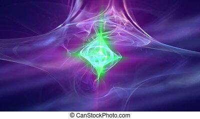 nebula apophysis pink green