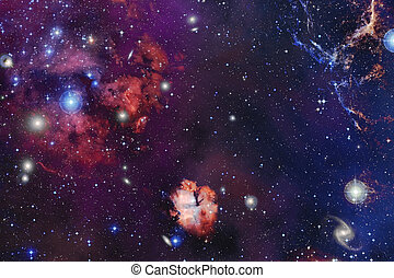 Nebula, galaxy, starfield, in outer space. Infinity universe