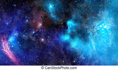 nebula gas cloud in deep outer space - great image of a...
