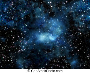 nebula gas cloud in outer space