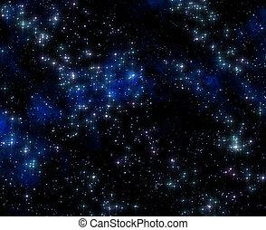 nebula, gas, wolk, in, diep, buitenste ruimte
