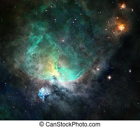 Nebula in deep space