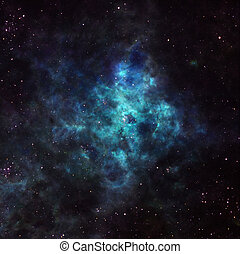 Nebula in outer space - Astronomical background with ...