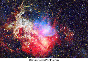 Nebula in space.