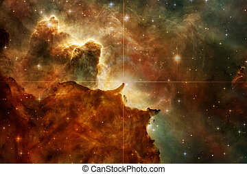 Nebulae and stars in deep space. Cosmic art, science fiction...