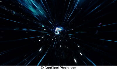 nebulae., déformation, tunnel., espace, science, voyage, ...